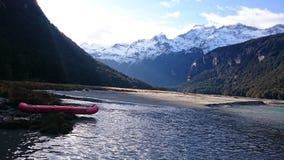 Paisaje asombroso del lago dart Foto de archivo libre de regalías