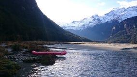 Paisaje asombroso del lago dart Imagen de archivo libre de regalías