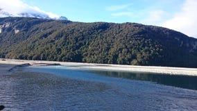 Paisaje asombroso del lago dart Foto de archivo