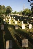 Paisaje Atlanta Georgia Headstone de las lápidas mortuarias del cementerio de Oakland foto de archivo libre de regalías