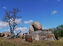 Paisaje australiano con un cielo azul Fotos de archivo