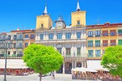 Paisaje ayuntamiento de Segovia en comandante de la plaza de la plaza principal Fotografía de archivo