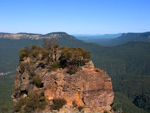 Paisaje azul Australia de las montañas Fotografía de archivo libre de regalías