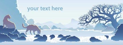 Paisaje azul de la montaña Imagenes de archivo