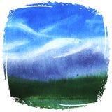 Paisaje azul de la montaña Fotografía de archivo