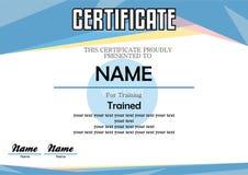 Paisaje azul moderno del certificado Imagenes de archivo
