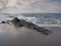 Paisaje búlgaro de la playa en el tiempo de verano Fotografía de archivo