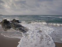 Paisaje búlgaro hermoso de la playa Fotografía de archivo libre de regalías