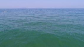 Paisaje bajo del mar con la onda almacen de metraje de vídeo