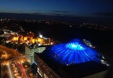 Paisaje Berlín de la noche fotografía de archivo libre de regalías