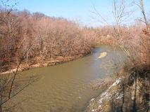 Paisaje bermellón Illinois del río Imágenes de archivo libres de regalías
