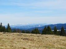 Paisaje Beskydy y Tatras Nevado fotos de archivo libres de regalías