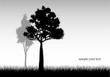 Paisaje blanco y negro libre illustration