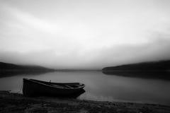 Barco del Bw Fotografía de archivo libre de regalías