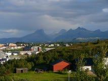 Paisaje Bodo de Noruega Imágenes de archivo libres de regalías