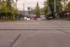 Paisaje borroso con el foco en el medio del marco, Moscú Imágenes de archivo libres de regalías