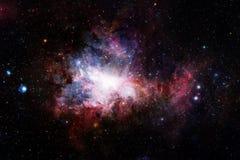 Paisaje cósmico, papel pintado colorido de la ciencia ficción con el espacio exterior sin fin