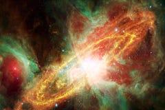 Paisaje cósmico, papel pintado impresionante de la ciencia ficción con el espacio exterior sin fin libre illustration