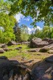 Paisaje, cantos rodados rocosos grandes Foto de archivo libre de regalías
