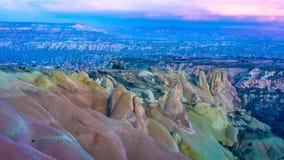 Paisaje Cappadocia de Goreme en Turquía imágenes de archivo libres de regalías