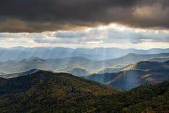Paisaje Carolina Blue Ridge del norte occidental de la montaña apalache Foto de archivo libre de regalías