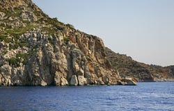 Paisaje cerca de la isla de Symi Grecia Imágenes de archivo libres de regalías
