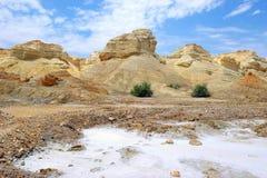 Paisaje cerca del mar muerto, Israel fotografía de archivo