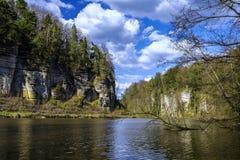 Paisaje checo del paraíso Fotos de archivo libres de regalías