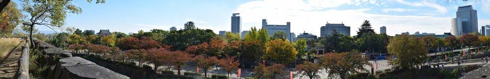 Paisaje circundante de Osaka Castle, Osaka Imagen de archivo