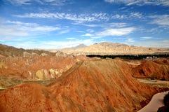 Paisaje colorido de Danxia, paisaje muy hermoso Fotos de archivo
