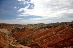 Paisaje colorido de Danxia, paisaje muy hermoso Imagen de archivo libre de regalías