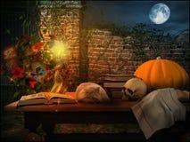 Paisaje colorido de Halloween Imágenes de archivo libres de regalías