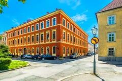 Paisaje colorido en Karlovac, Croacia imagen de archivo libre de regalías