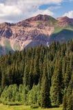 Paisaje con cresta de la montaña de Colorado de la mota Fotos de archivo libres de regalías