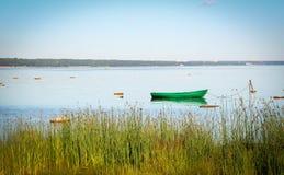 Paisaje con el barco Fotografía de archivo
