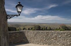 Paisaje con el cielo grande, España Imagen de archivo libre de regalías
