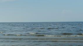 Paisaje con el mar y el cielo almacen de video