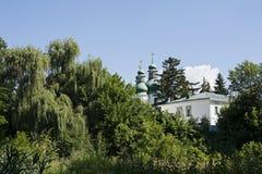 Paisaje con el monasterio Fotografía de archivo