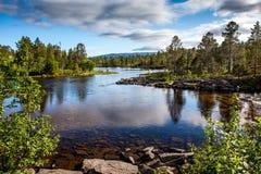 Paisaje con el río Fotos de archivo