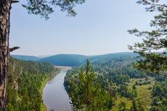 Paisaje con el río Imagenes de archivo