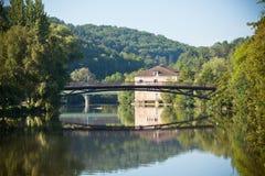 Paisaje con el río Vezere Imagen de archivo libre de regalías