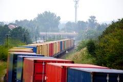 Paisaje con el tren Imagen de archivo libre de regalías