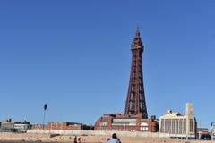 Paisaje con la torre Reino Unido de Blackpool foto de archivo