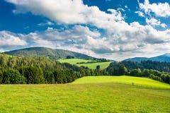 Paisaje con las colinas en Austria Fotografía de archivo libre de regalías