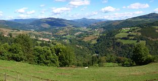 Paisaje con las montañas (2) fotos de archivo libres de regalías