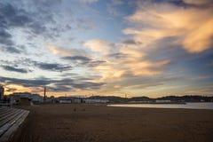 Paisaje con las nubes 2 Fotos de archivo libres de regalías