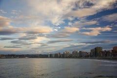 Paisaje con las nubes 1 Fotografía de archivo