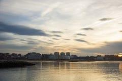 Paisaje con las nubes 4 Fotografía de archivo libre de regalías