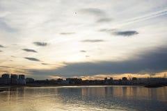 Paisaje con las nubes 3 Imagen de archivo libre de regalías