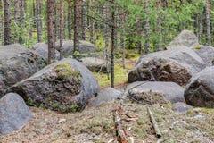 Paisaje con las piedras grandes Imagen de archivo